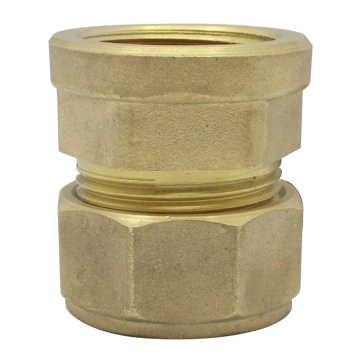 Compression Brass Female Straight Coupler