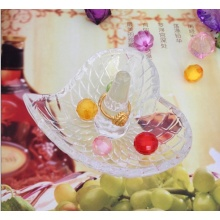 Heart Shaped Glass Ring Holders For Wedding