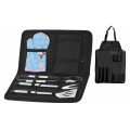 5pcs BBQ set with target apron