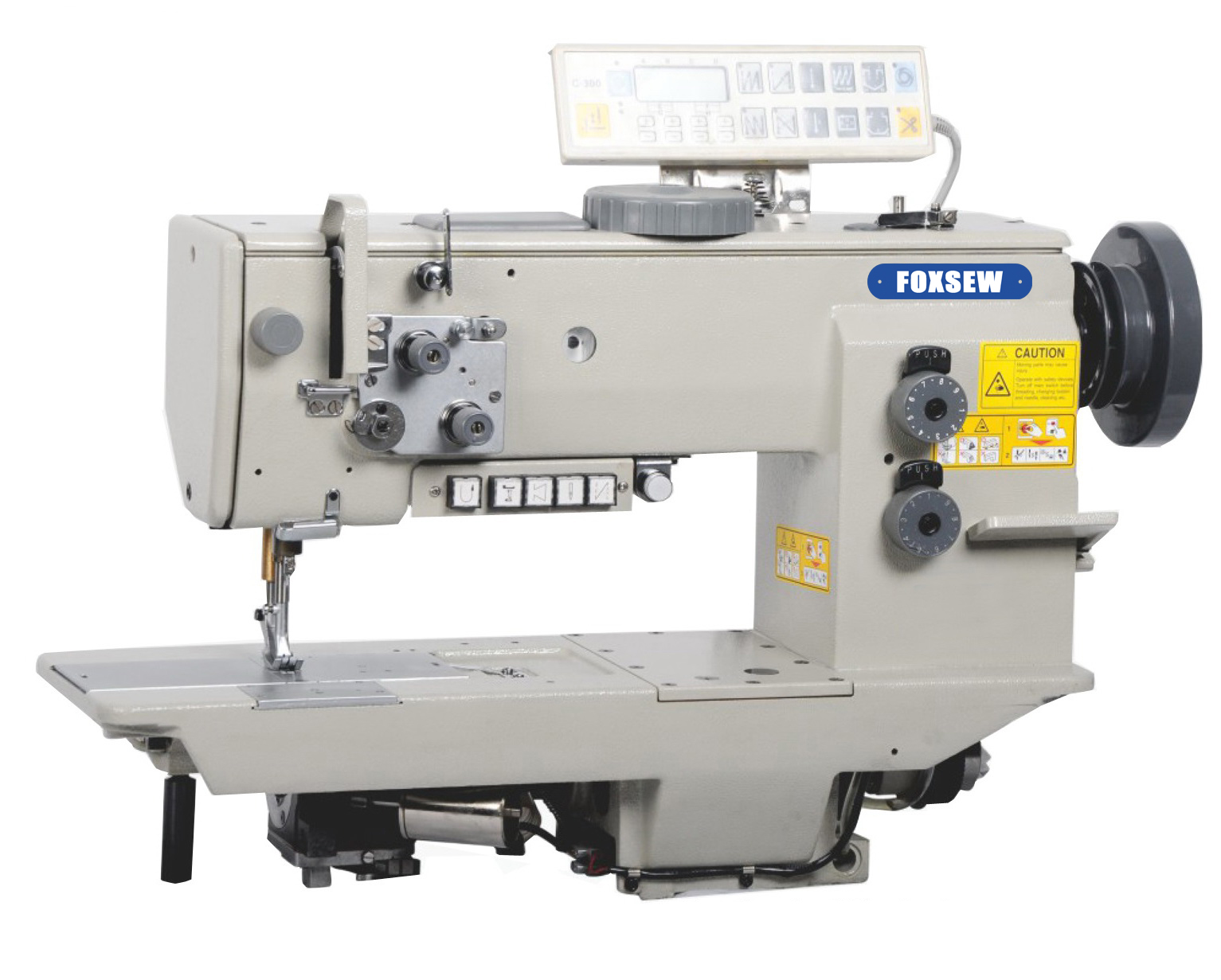 KD-7677-7 Single Needle Compound Feed Heavy Duty Sewing Machine with Automatic Thread Trimmer