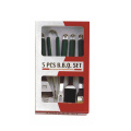 5pcs BBQ set with green pp handle