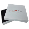 Custom Color Printing White Embossing Necklace Paper Box