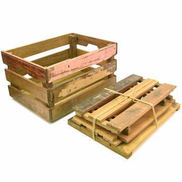 Cheap gift paulownia wooden storage shipping unfinished crates wholesale