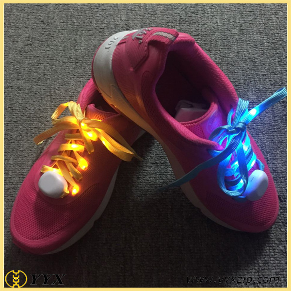 single led light color shoelace sample