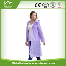 Mayrain Long PVC Outdoor Jacket For Ladies