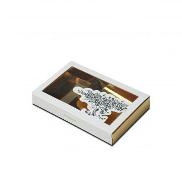 Small Sliding Gold Paper Window Box
