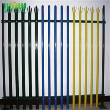 Heavy duty steel picket palisade fence