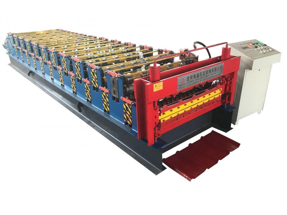 Automatic double layer roofing sheet machine