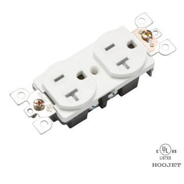 20A Standard American Style Inline Double GFCI Socket