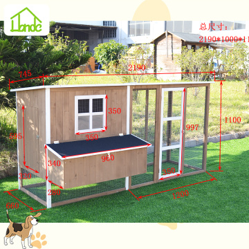 Hot fir wood chicken coop with asphalt roof