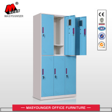 High Efficiency Factory for School Lockers Digital Lock 6 Doors Blue Steel Lockers export to Cuba Suppliers