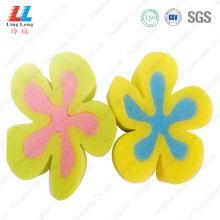 Bulk flower gradient bath sponge