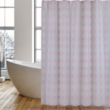 Customized for China Shower Curtain Peva,Peva Shower Curtain,Clear Shower Curtain Supplier Shower Curtains PEVA Pink Leaves supply to Czech Republic Factories