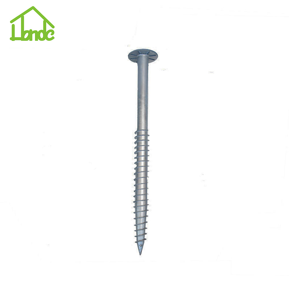 Ground Screw Pole Anchor For Roads And Traffic