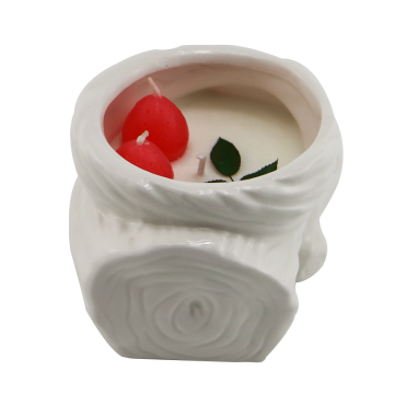 Decorative ceramic bottle soy candle scented luxury wax