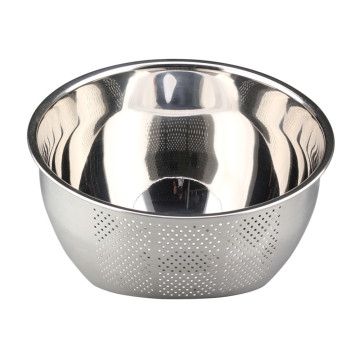 Silver Colander With Mesh