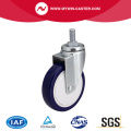 Zinc 4 Inch 80Kg Threaded Swivel TPU Caster