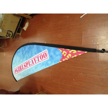 Dye Sub Printing Tear Drop Flag with Flagpole