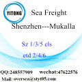 Shenzhen Port LCL Consolidation To Mukalla
