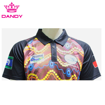 Unique Print Sublimated Black Polo Shirts