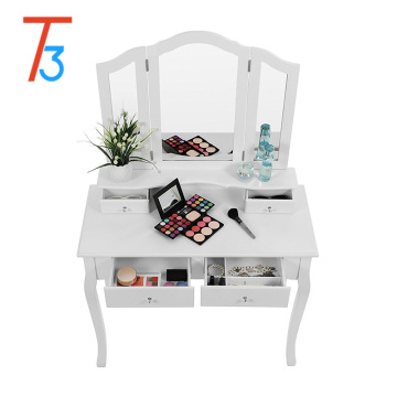 wooden dressing table with modern designs used to bedroom furniture