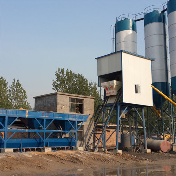 Stationary HZS75 concrete batching plant setup cost