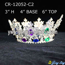 Silver Plated Rhinestone Full Round Pageant Crowns