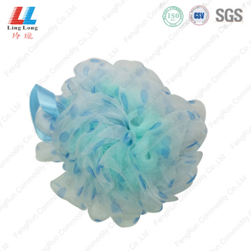 Handle grouting loofah bath pouf mesh sponge