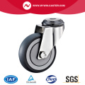 TPR Bolt Hole Swivel Stainless Steel Caster