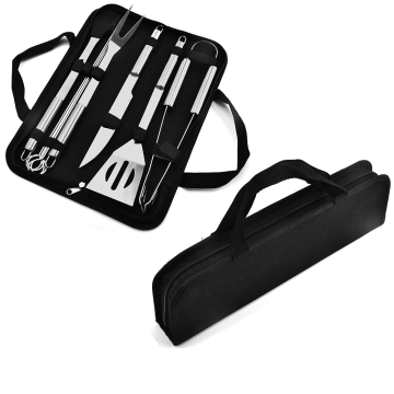 9PCS Stanless Steel BBQ Set With Oxford Bag