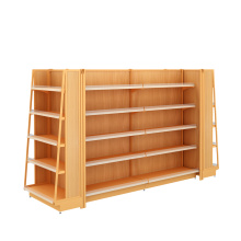 OEM for Steel Supermarket Shelf Supermarket Steel and Wooden Shelf export to Puerto Rico Wholesale