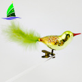 Hot Selling Cheap Handmade Bird Glass Christmas Ornaments