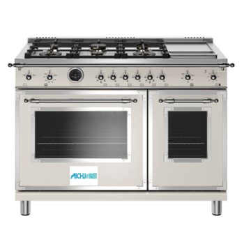 Electric Self Clean Oven 6 Brass Burners Griddle