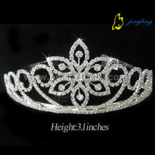 Manufacturer of for Wedding Rhinestone Tiaras Bridal flower crystal crown CR-004 export to Congo Factory