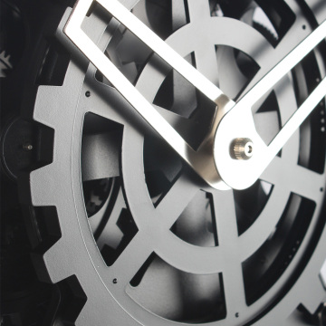 Round Stainless Steel Gear Wall Clock