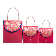 Portable Chinese Style Red Wedding Candy Packing Box