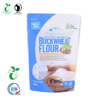 Eco Compostable Ecological degradable Stand Up Packaging Pouch For Food