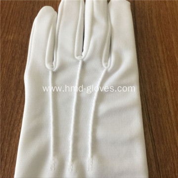 10 Years Experience Marching Band White Gloves Cotton