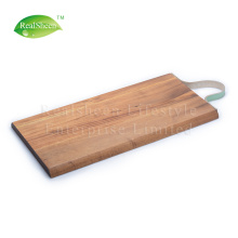 China for Wood Cutting Board Long Acacia Wood Cutting Board With Leather Strap export to Spain Supplier