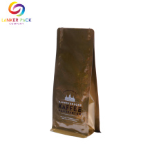 Multi-layer Coffee Packaging Block Bottom Pouch With Valve