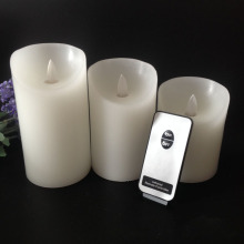 Leading for 3D Led Candle Bulbs Real paraffin wax remote control pillar led candles export to Netherlands Exporter