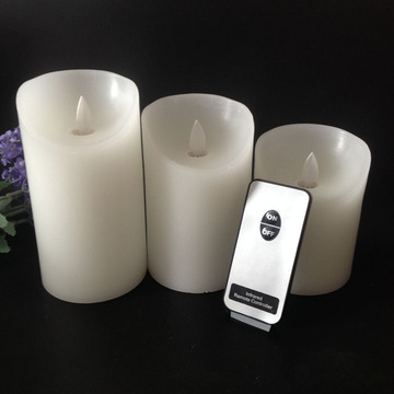 Real paraffin wax remote control pillar led candles