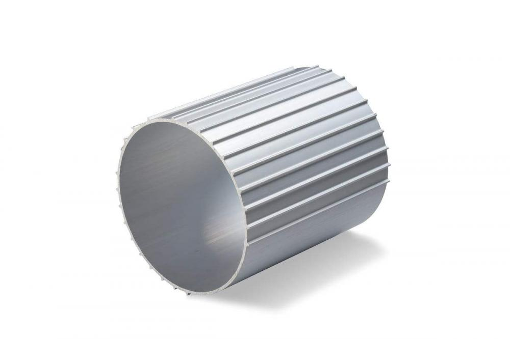 Aluminium extrusion profile on stock