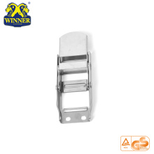 High Quality for Plastic Handle Ratchet Buckle White Zinc Overcenter Buckles Webbing Buckle For Lashing Belt export to Montserrat Importers