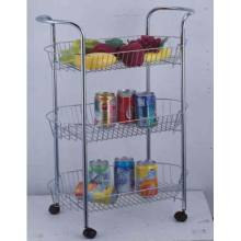 Personlized Products for Plastic Compound Cart Multi-Function 3 Tier Storage Cart supply to Italy Manufacturer