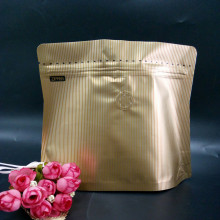 Discount Price Pet Film for Plastic Coffee Bag Packaging Stand Up Pouch With Degassing And Zipper export to United States Manufacturer