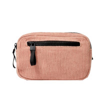 Custom Pink Corduroy Money Fanny Pack Waist Bag