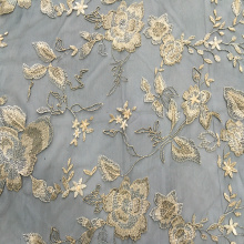 Two Tone Polyester Yarn Embroidery Fabric