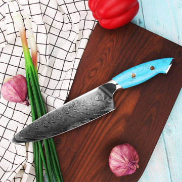 Turquoise Handle VG10 Damascus Cooking Knives