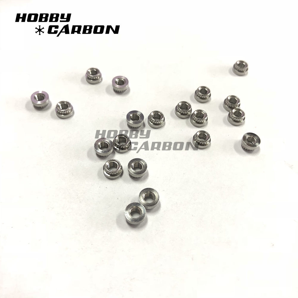M3 Stainless Steel Press Nuts with nylon